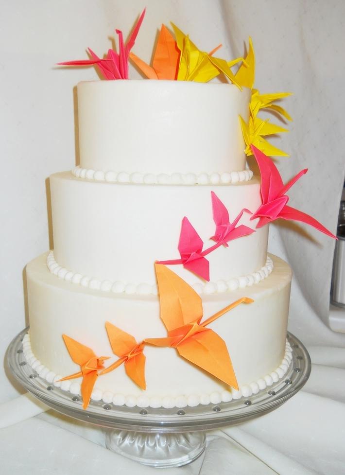 Paper Crane Cake