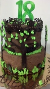 Very Chocolate Nature Themed Cake
