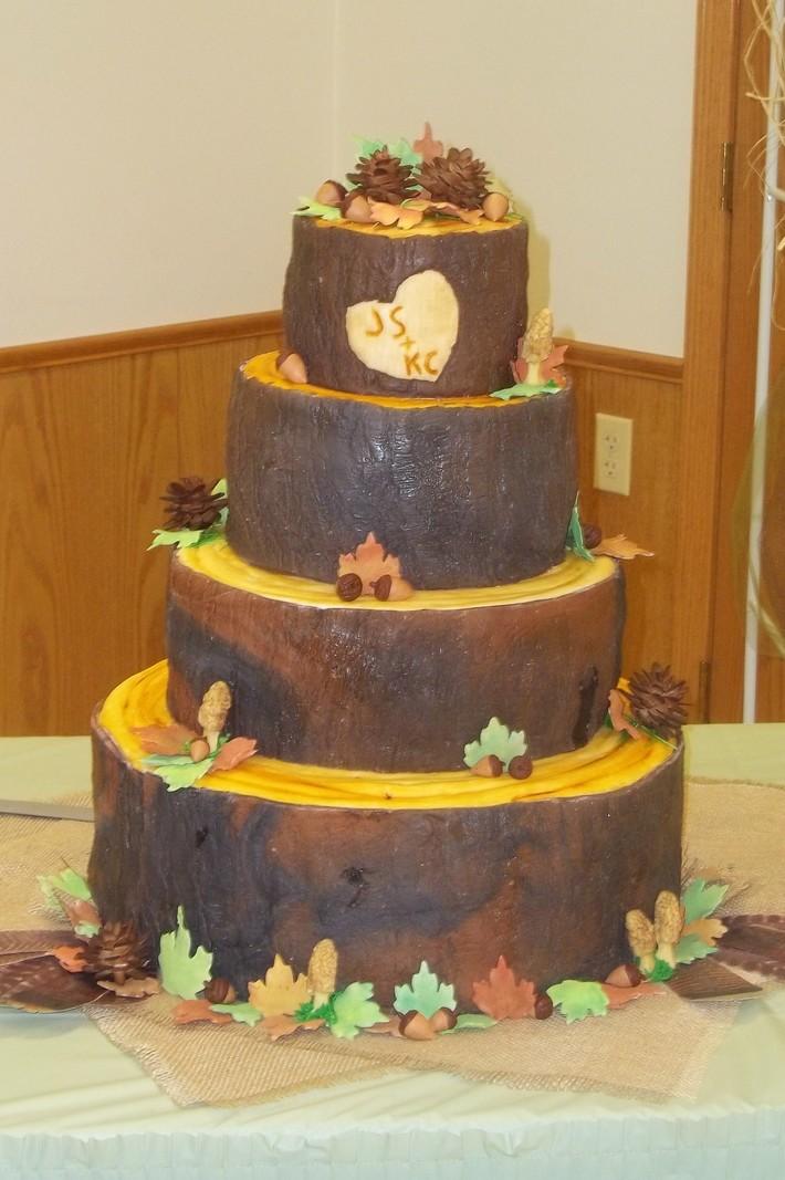 Tree Stump wedding cake - 916F