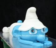 3 D smurf shape cake