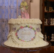 precious moments cake made for our pastor's wife