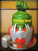 hulk smash thor cake