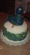 Peacock Wedding Cake #2