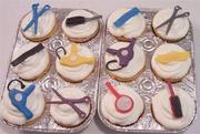 Hair Salon cupcakes