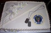 Bride and Groom Shower Cake