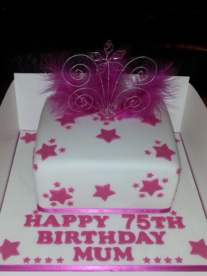 Astonishing 75Th Birthday Cake Cake Decorating Community Cakes We Bake Funny Birthday Cards Online Bapapcheapnameinfo