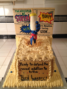 Superdad Cake Front View