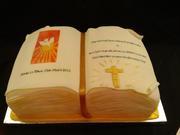 Open Book Confirmation Cake Nikita.2