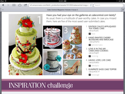 My Shoe Picture has been featured in Cake Central Magazine.  Vol. 4, issue 3, March 2013