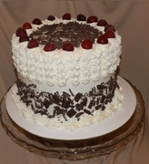 Triple Layer Sour Cream Black Forest Cake