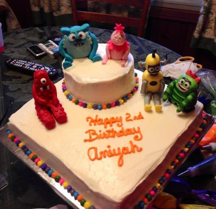 Aniyah 2nd birthday cake