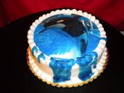 Shamu buttercream cake