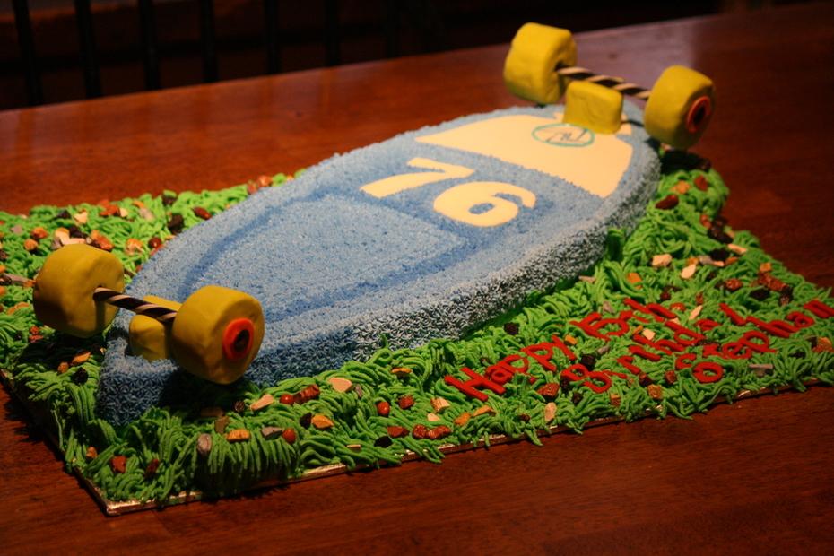 Long Board Birthday Cake