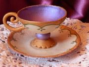 Gum Paste Lavender Tea Cup