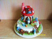 Childs Smurf Birthday Cake