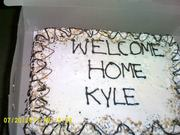 Welcome home Kyle. ( belinda's son) 2012