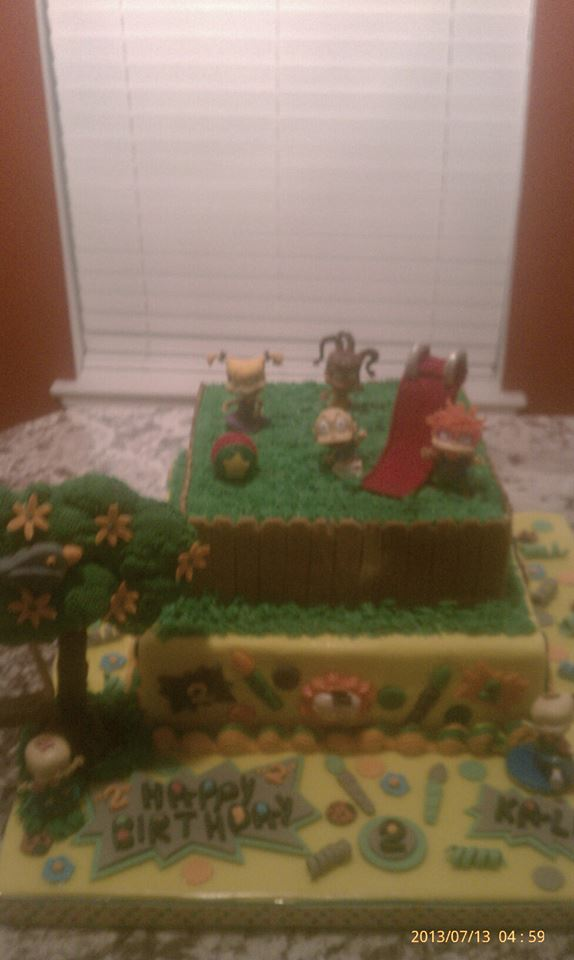 Rugrats b/d cake for 2 yr old