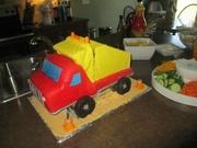 """Chuck and Friends"" Dump Truck Cake"