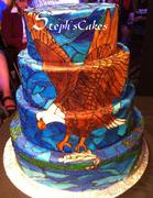 Native American Eagle Cake. 828F
