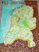 Netherland map cake