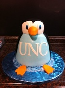 Penguin Grooms Cake