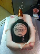 Another view of Champagne bottle