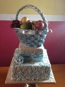 """Fruitful"""" Wedding Cake"""