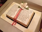 Bible Cake with Gumpaste Gardenia