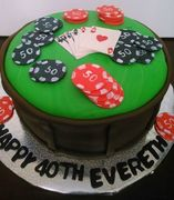 poker table cake