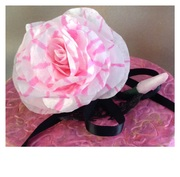 Pink Stripped Coffee Filter Flower