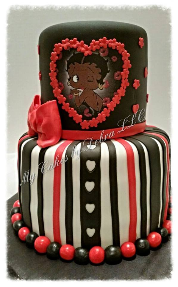 Super Black Betty Boop Theme Cake Cake Decorating Community Cakes We Birthday Cards Printable Opercafe Filternl