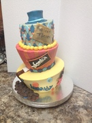 willy wonka theme cake
