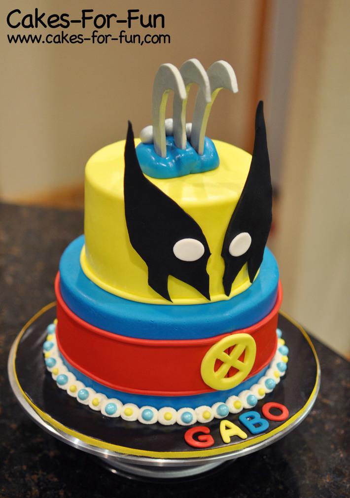 Groovy Wolverine Cake Cake Decorating Community Cakes We Bake Personalised Birthday Cards Veneteletsinfo