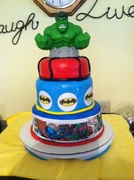 Super Hero Cake for 7 yr old nephew