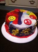 70's Themed Cake