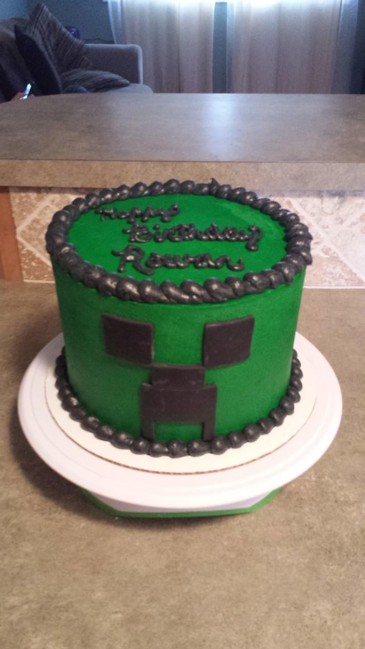 Marvelous Minecraft Creeper Cake Decorating Community Cakes We Bake Personalised Birthday Cards Paralily Jamesorg