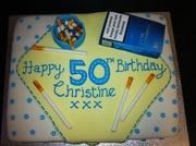 Cigarette 50th cake