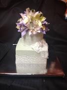 vintage themed wedding cake