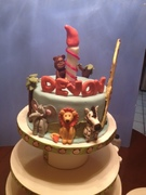Safari themed bday cake