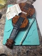 3D violin cake