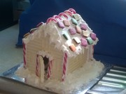 White chocolate covered Ginger bread house