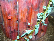 aged painted wood