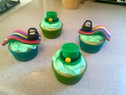 St Patrick day cupcakes