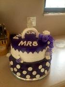 Purple ring engagement cake