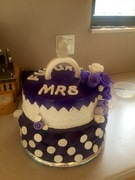 Purple engagement cake