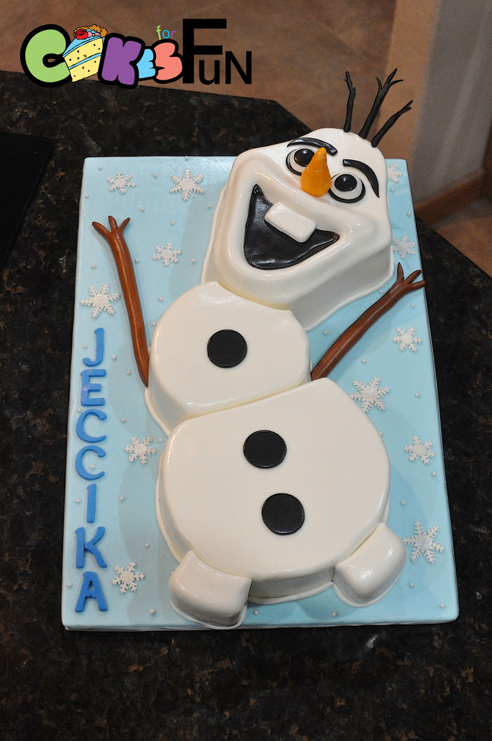 Awe Inspiring Olaf Birthday Cake Cake Decorating Community Cakes We Bake Funny Birthday Cards Online Alyptdamsfinfo