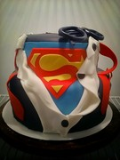 Super-Man Tiered Suit n S Cake