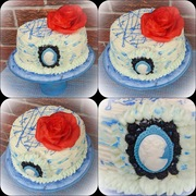 BLUE THEMED BIRTHDAY CAKE