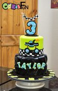 Monster truck tire cake
