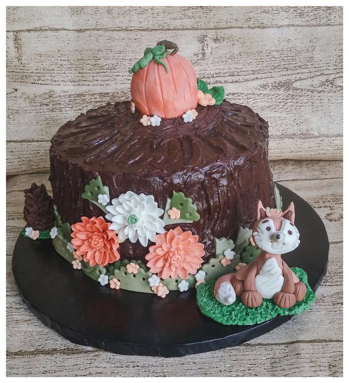 Woodland Thanksgiving Cake